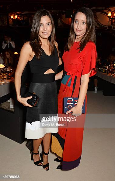 Amanda Sheppard and India Langton attend a drinks reception at the British Fashion Awards at the London Coliseum on December 1 2014 in London England