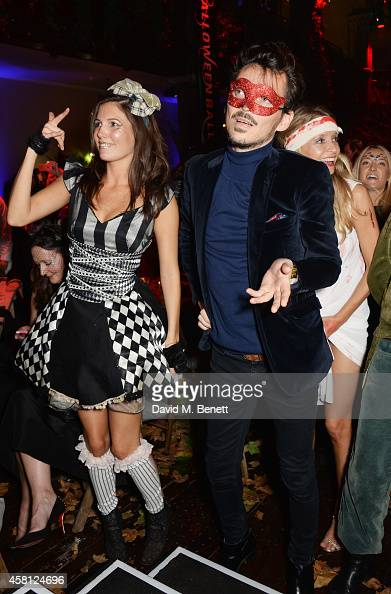 Amanda Sheppard and Matthew Williamson attend the Unicef UK Halloween Ball raising vital funds to help protect Syria's children from danger at One...