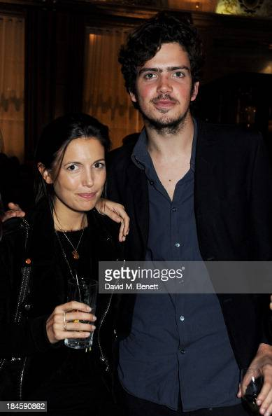 Amanda Sheppard and Preston Thompson attend the London EDITION and NOWNESS dinner to celebrate ON COLLABORATION on October 14 2013 in London England