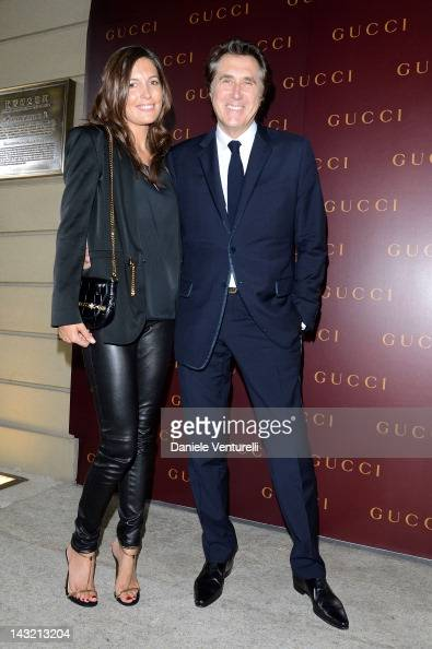 Amanda Sheppard and singer Bryan Ferry attend the 'Frida Giannini First Fashion Show In China' on April 21 2012 in Shanghai China