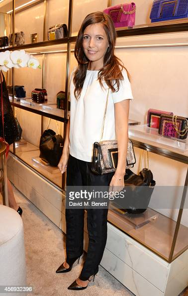 Amanda Sheppard attends cocktail reception hosted by Pierre Denis CEO and Sandra Choi Creative Director of Jimmy Choo to celebrate the opening of the...