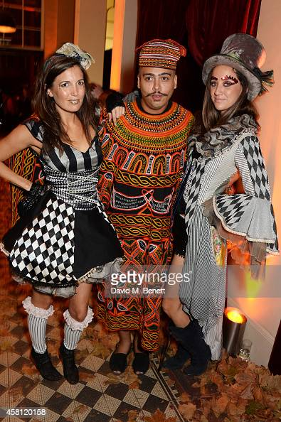 Amanda Sheppard Seth Troxler and India Langton attend the Unicef UK Halloween Ball raising vital funds to help protect Syria's children from danger...