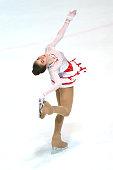 Amanda Stan of Romania skates during the junior ladies short dance of the ISU Junior Grand Prix at Dom Sportova on October 8 2015 in Zagreb Croatia