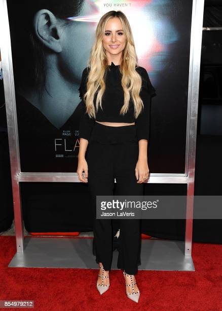 Amanda Stanton attends the premiere of 'Flatliners' at The Theatre at Ace Hotel on September 27 2017 in Los Angeles California