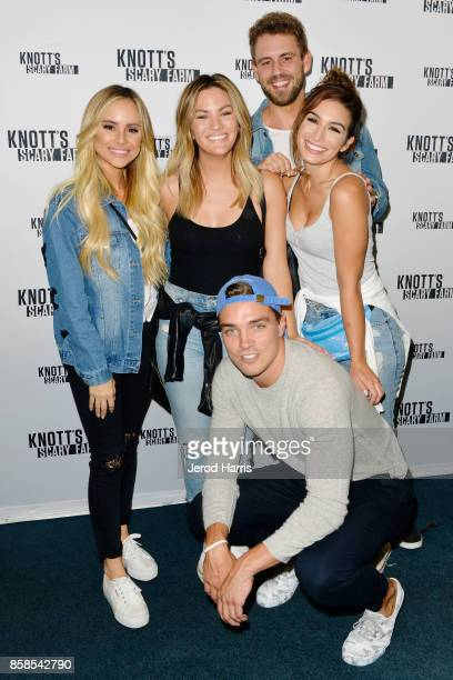Amanda Stanton Becca Tilley Dean Unglert Nick Viall and Ashley Iaconetti visit Knott's Scary Farm at Knott's Berry Farm on October 6 2017 in Buena...