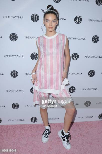 Amanda Steele arrives at the 5th Annual Beautycon Festival Los Angeles at Los Angeles Convention Center on August 12 2017 in Los Angeles California