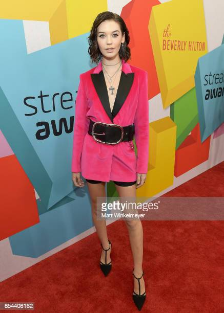 Amanda Steele at the 2017 Streamy Awards at The Beverly Hilton Hotel on September 26 2017 in Beverly Hills California