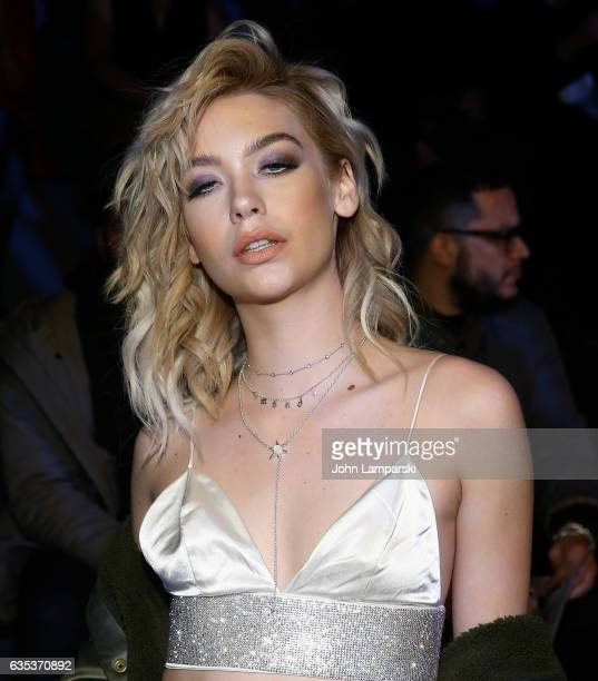 Amanda Steele attends The Blonds fashion show during February 2017 New York Fashion Week presented by MADE at Gallery 1 Skylight Clarkson Sq on...