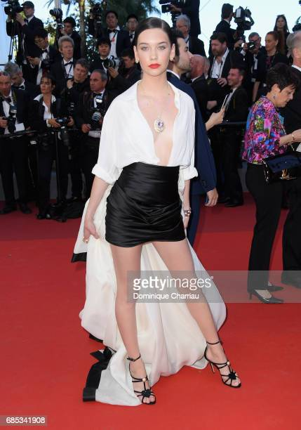 Amanda Steele attends the 'Okja' screening during the 70th annual Cannes Film Festival at Palais des Festivals on May 19 2017 in Cannes France