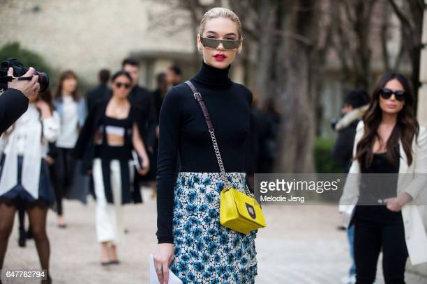 Amanda Steele outside the Dior show on March 3 2017 in Paris France