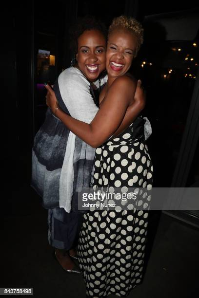Amanda Stephen and Brandice Daniel Attend Harlem's Fashion Row at La Marina Restaurant Bar Beach Lounge on September 6 2017 in New York City