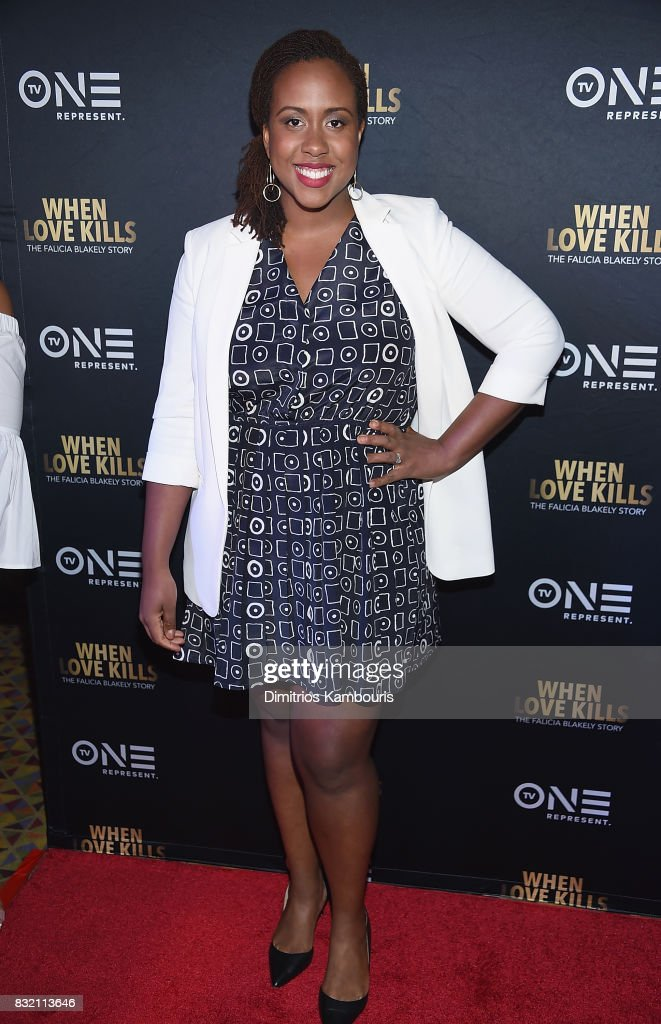 Amanda Stephen attends the 'When Love Kills: The Falicia Blakely Story' New York Premiere at AMC Empire 25 theater on August 15, 2017 in New York City.