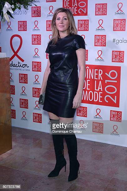 Amanda Sthers attends the Sidaction Gala Dinner 2016 as part of Paris Fashion Week on January 28 2016 in Paris France