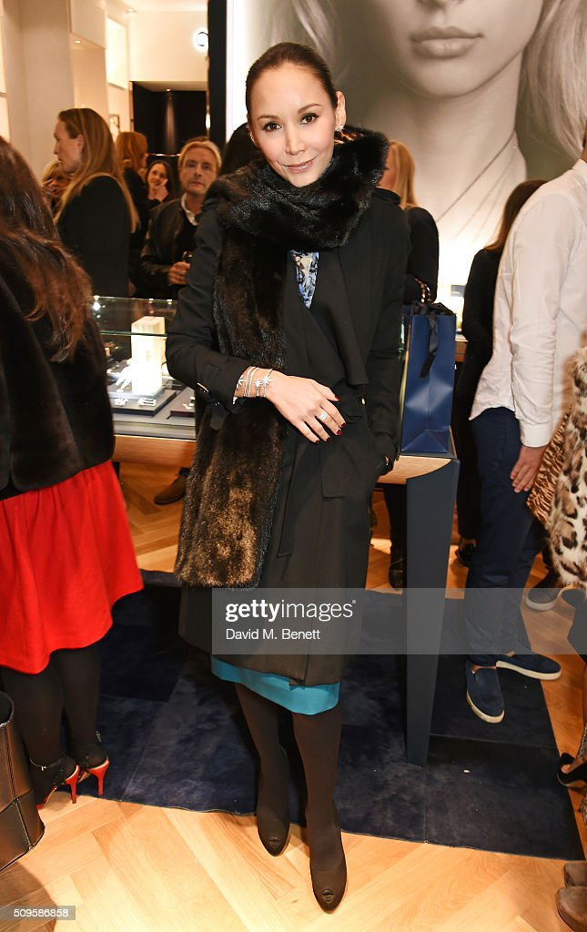 Amanda Strang attends the APM Monaco flagship store opening on South Molton Street on February 11, 2016 in London, England.