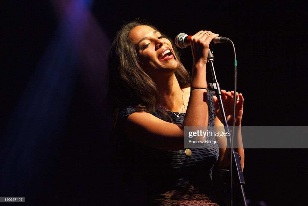 Amanda Sudano of Johnnyswim performs on stage at HMV Ritz on February 2, 2013 in Manchester, England.