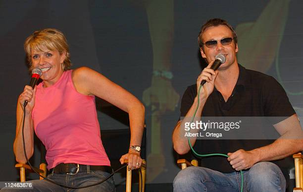 Amanda Tapping and Michael Shanks during Creation Entertainment's The 12th Annual Grand Slam Show The SciFi Summit Day Three at Pasadena Convention...