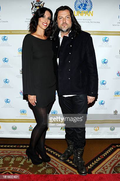 Amanda Tapping and Robin DiMaggio attend the 2013 SouthSouth Awards at The Waldorf=Astoria on September 22 2013 in New York City