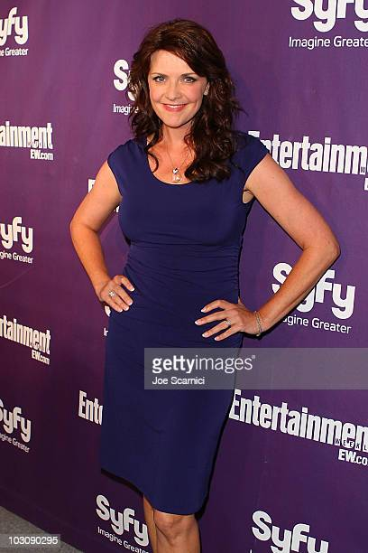 Amanda Tapping arrives at the Entertainment Weekly/Syfy ComicCon Party at Hotel Solamar on July 24 2010 in San Diego California