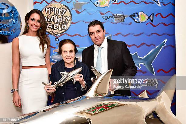 Amanda Ungaro Gloria Starr Kins and Paolo Zampolli attend We Are The Oceans Wato And Save Our Shark Coalition Hosted By Ambassador Paolo Zampolli and...