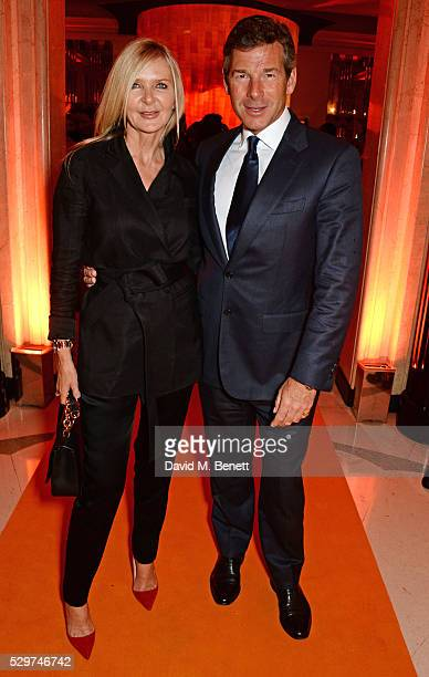 Amanda Wakeley and Hugh Morrison attend the Veuve Clicquot Business Woman Award at The Ballroom of Claridge's on May 9 2016 in London Englan