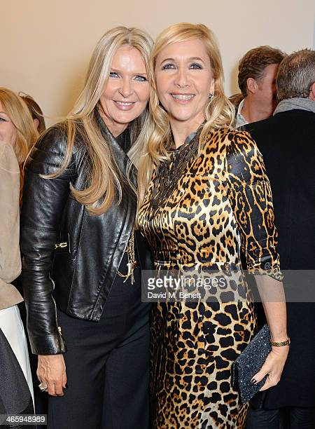 Amanda Wakeley and Tania Bryer attend the launch of the Amanda Wakeley London flagship store on January 30 2014 in London England