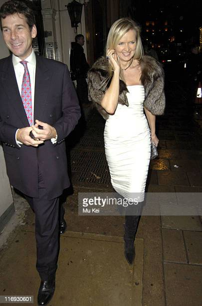 Amanda Wakeley during Vogue List Party November 8 2005 at Nobu Berkely Square in London Great Britain