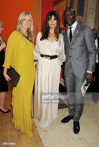 Amanda Wakeley Lisa Barbuscia aka Lisa B and Ozwald Boateng attend 'A Celebration Of The Arts' at Royal Academy of Arts on May 23 2012 in London...