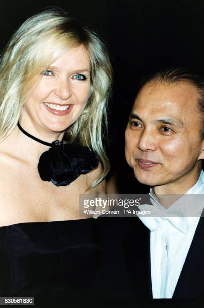 Amanda Wakeley with Jimmy Choo at his Couture Gala Evening in aid of Tommy's Campaign at the Victoria and Albert Museum London