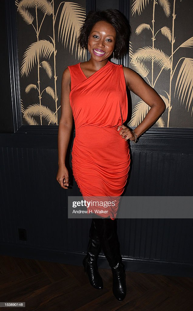Amanda Warren attends The Cinema Society and CBS Films screening of 'Seven Psychopaths' After Party at No. 8 on October 10, 2012 in New York City.