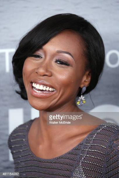Amanda Warren attends 'The Leftovers' premiere at NYU Skirball Center on June 23 2014 in New York City