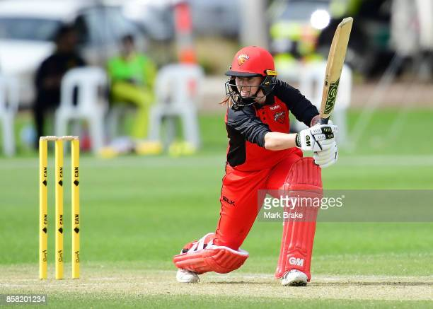 Amanda Wellington during the WNCL match between South Australia and Western Australia at Adelaide Oval No2 on October 6 2017 in Adelaide Australia