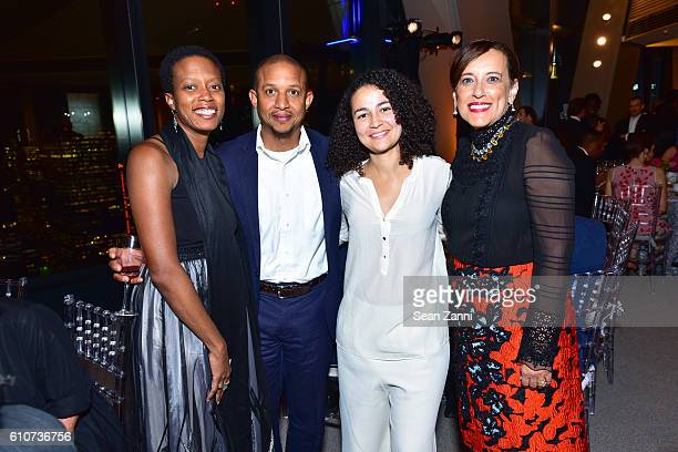 Amanda Williams Wret Rausaw Bethany Collins and Denice Gardner attend Abstracted Black Tie Dinner Hosted by Pamela Joyner Fred Giuffrida and the...