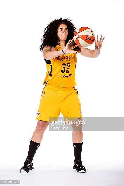 Amanda Zahui B #32 of the Tulsa Shock poses for a portrait during Media Day on May 26 2015 at the BOK Center in Tulsa Oklahoma NOTE TO USER User...