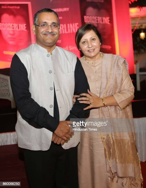 Amandeep Singh and Mukta during the launch of the nonfiction book Borderline by author Shabri Prasad Singh at the Lawns of Hotel Diplomat...