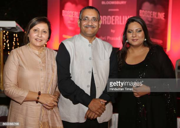 Amandeep Singh Mukta and author Shabri Prasad Singh during the launch of the nonfiction book Borderline at the Lawns of Hotel Diplomat Chanakyapuri...