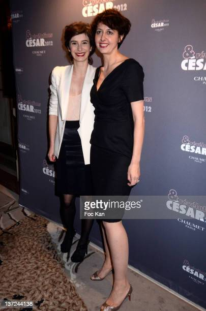 Amandine Dewasmes and Valerie Bonneton attend the dinner arrivals for Cesar's Revelations 2012 at Hotel Meurice on January 16 2012 in Paris France