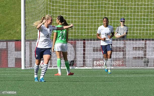 Amandine Henry of France celebrates scoring the fifth goal against Mexico during the FIFA Women's World Cup Canada 2015 Group F match between Mexico...