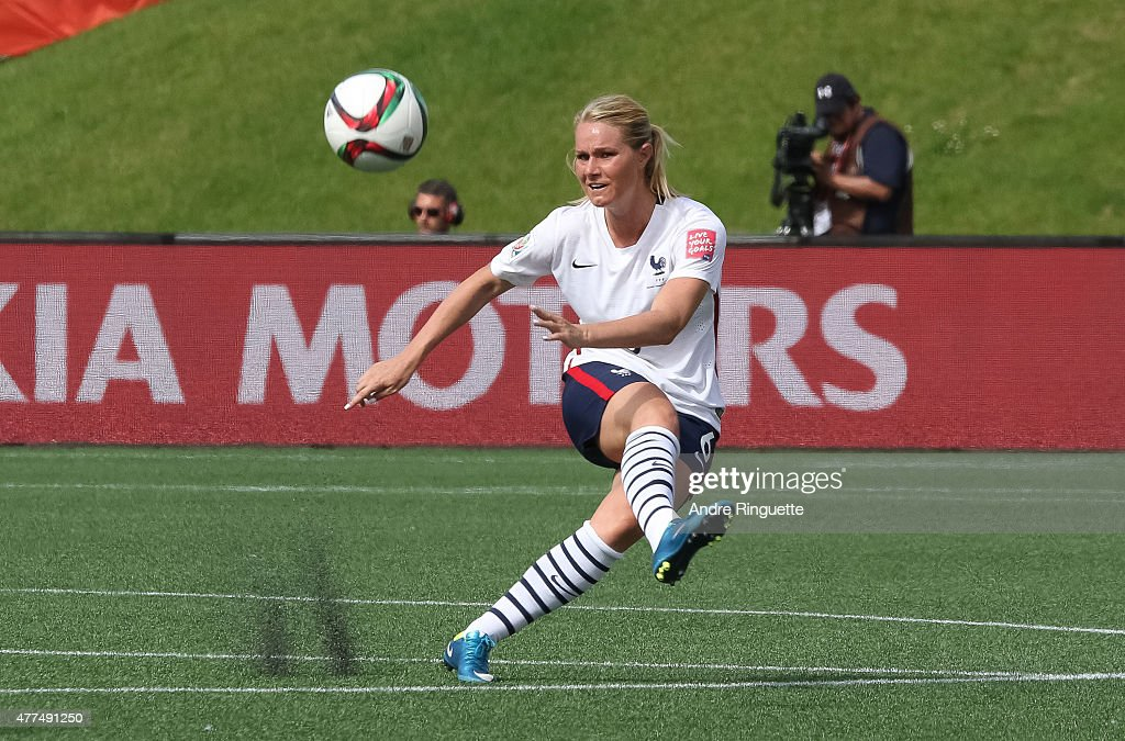 <a gi-track='captionPersonalityLinkClicked' href=/galleries/search?phrase=Amandine+Henry&family=editorial&specificpeople=4432019 ng-click='$event.stopPropagation()'>Amandine Henry</a> #6 of France kicks the ball upfield during the FIFA Women's World Cup Canada 2015 Group F match between Mexico and France at Lansdowne Stadium on June 17, 2015 in Ottawa, Canada.