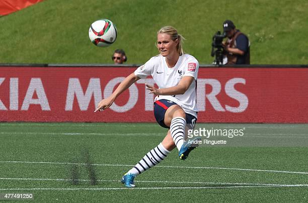 Amandine Henry of France kicks the ball upfield during the FIFA Women's World Cup Canada 2015 Group F match between Mexico and France at Lansdowne...