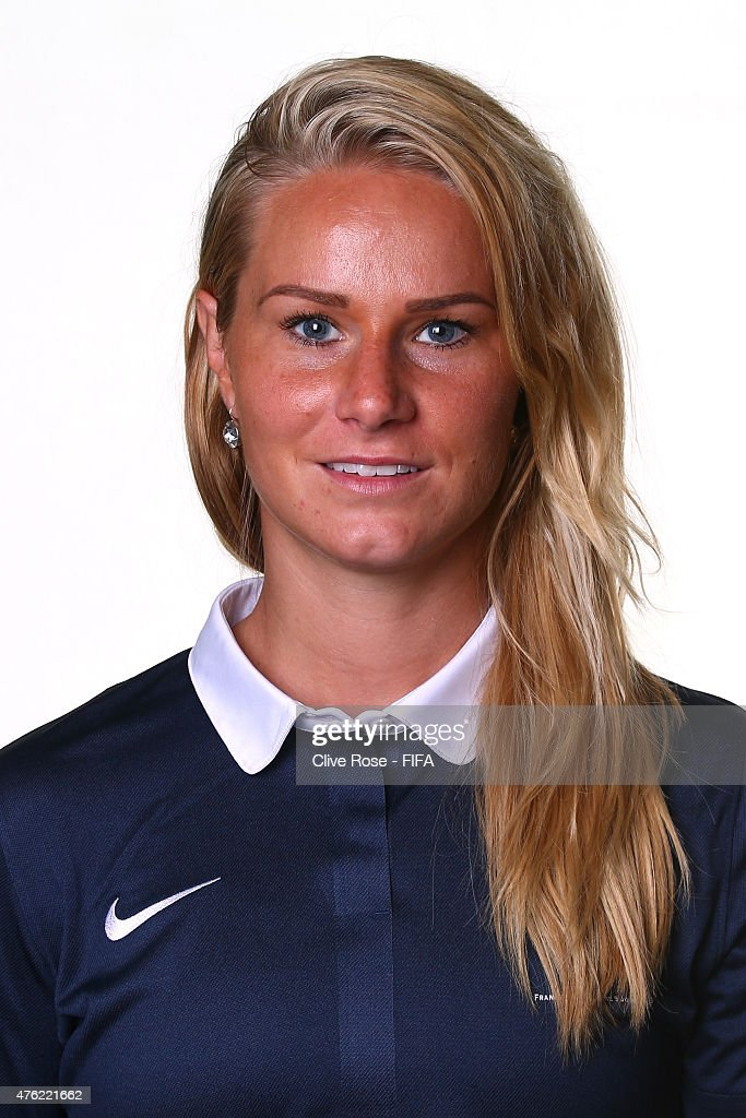 <a gi-track='captionPersonalityLinkClicked' href=/galleries/search?phrase=Amandine+Henry&family=editorial&specificpeople=4432019 ng-click='$event.stopPropagation()'>Amandine Henry</a> of France poses during a FIFA Women's World Cup portrait session on June 6, 2015 in Moncton, Canada.