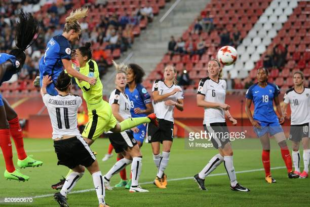 Amandine Henry of France women goalkeeper Manuela Zinsberger of Austria women during the UEFA WEURO 2017 Group C group stage match between France and...