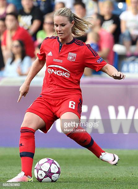 Amandine Henry of Olympique Lyonnais in action during the UEFA Women's Champions League Final VfL Wolfsburg and Olympique Lyonnais between at Mapei...
