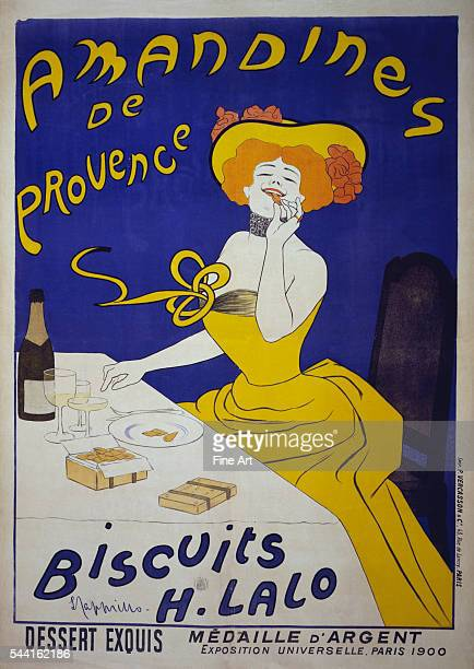 Amandines de Provence Biscuits H Lalo Poster for almond cookies circa 1900 140 x 100 cm