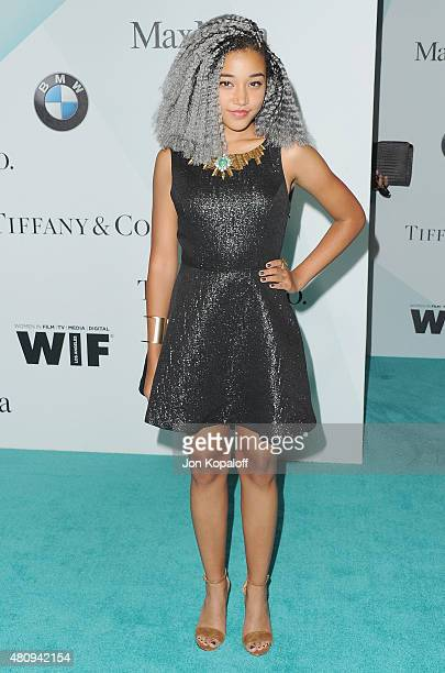 Amandla Stenberg arrives at Women In Film 2015 Crystal Lucy Awards at the Hyatt Regency Century Plaza on June 16 2015 in Los Angeles California