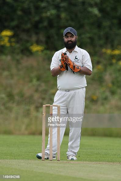 Amanjit Singh of Hertfordshire in action during the County Disability Fixture between Hertfordshire and Hampshire at Welwyn Playing Fields on July 29...
