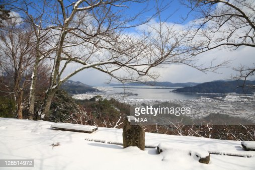 Miyazu Japan  city photo : Ama no hashidate and Snow, Miyazu, Kyoto, Japan