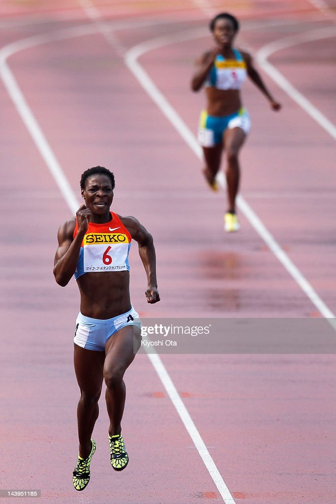 Amantle Montsho of Botswana competes to win the Women's 400m during the Seiko Golden Grand Prix Kawasaki at Todoroki Stadium on May 6 2012 in...