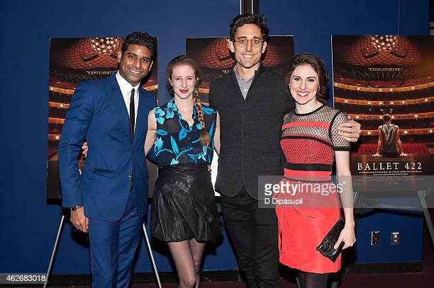 Amar Ramasar Sterling Hyltin New York City Ballet resident choreographer Justin Peck and Tiler Peck attend the 'Ballet 422' New York Premiere at...
