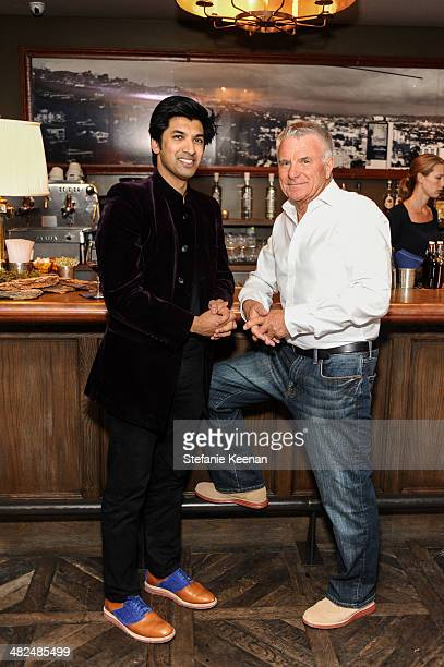Amar Singh and guest attend REVISIT Launch Party on April 3 2014 in Los Angeles California