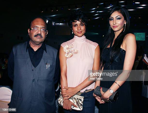 Amar Singh and Gul Panag during the Sahara Sports Awards 2010 in Mumbai on October 302010